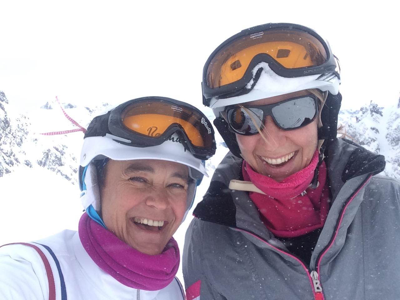 Skifahren mit meiner Lieblings-Skifreundin