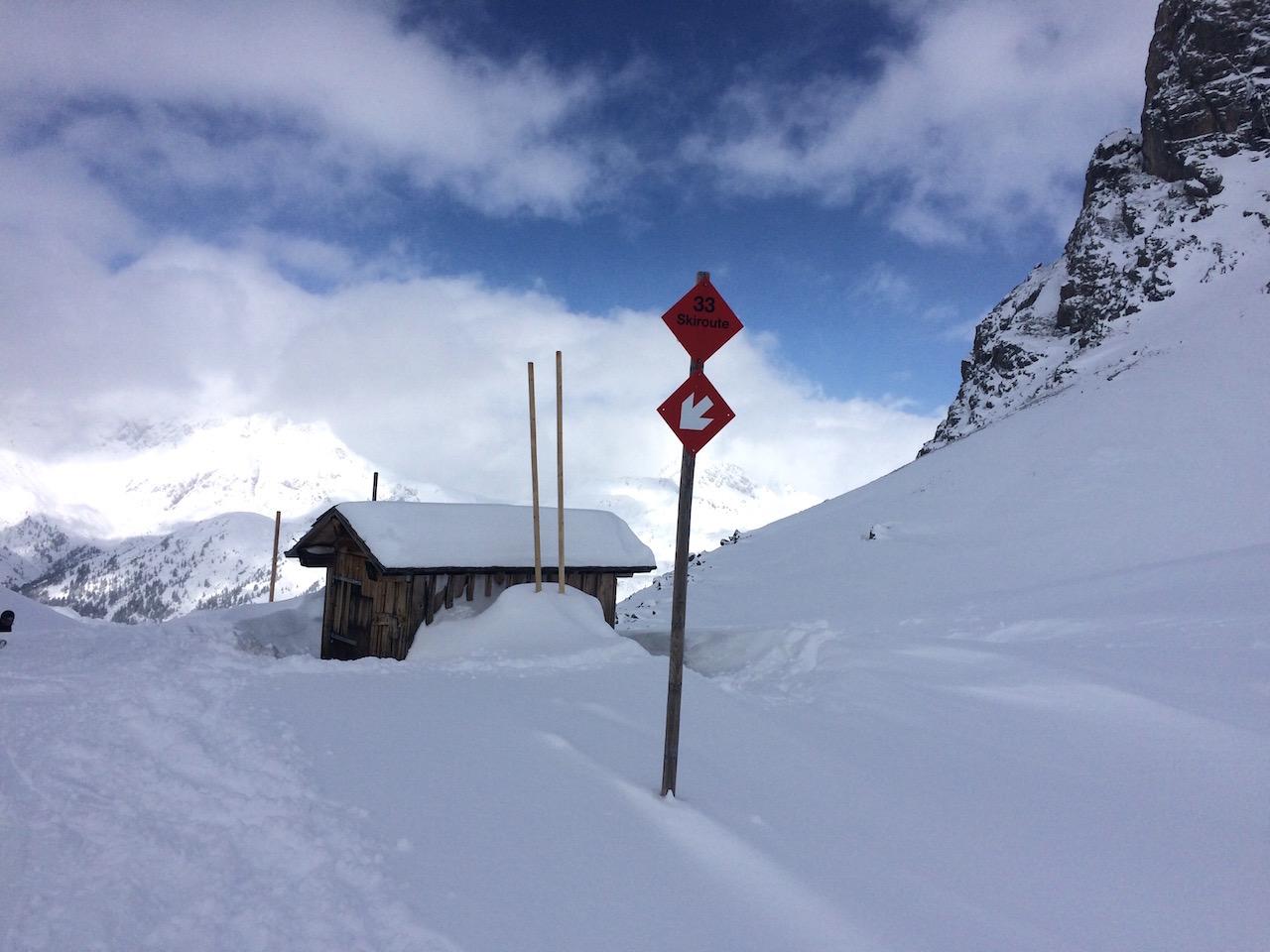 Skiroute Madloch nach Zug